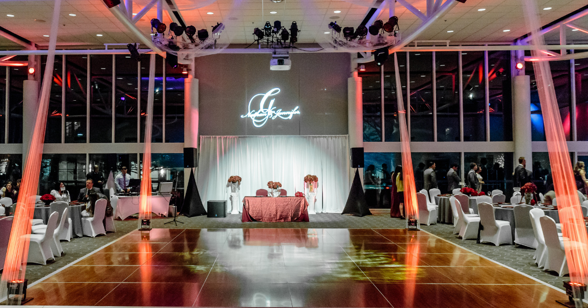 The dance floor inside The Atrium