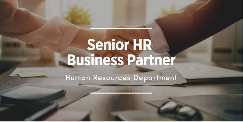 Image of two hands shaking that links to the HR business partner posting